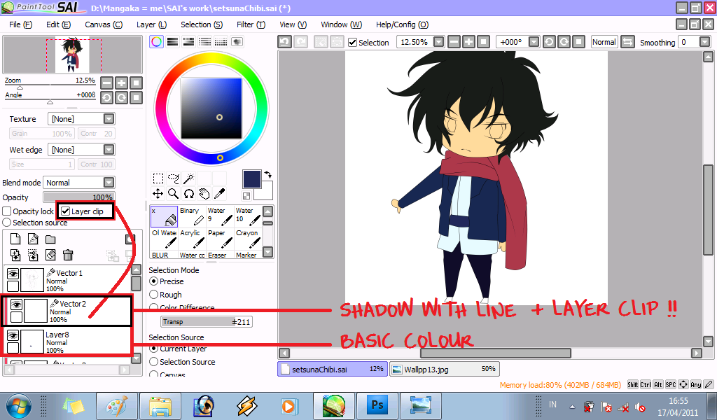 Save As Png With Paint Tool Sai